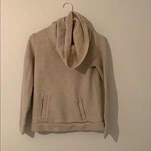 J Crew cowl neck sweater with pocket